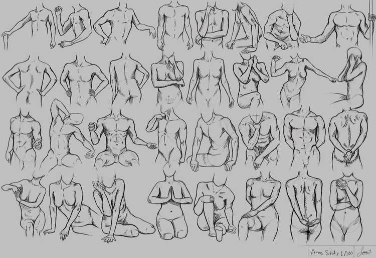 Study Arms - positions male fem - rain_walker | ello