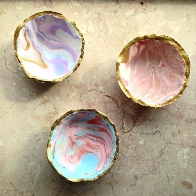 Handmade marbleized clay bowls  - chloehyman | ello