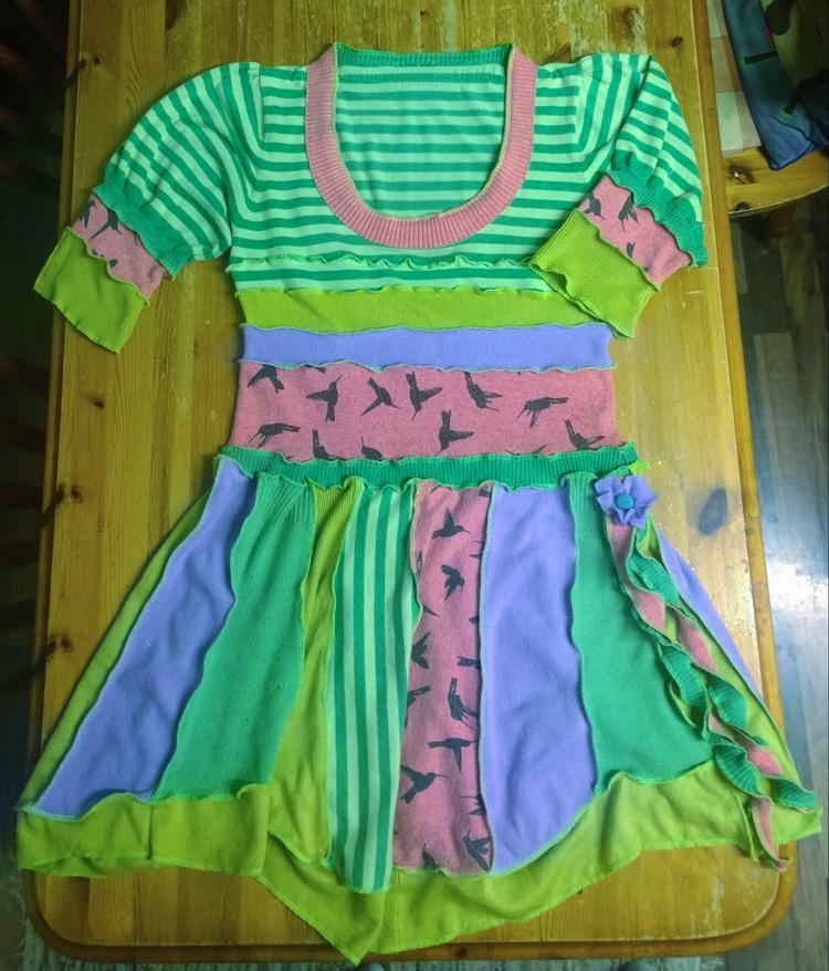Sweater dress. Upcycled knits.  - elitepaintuk   ello