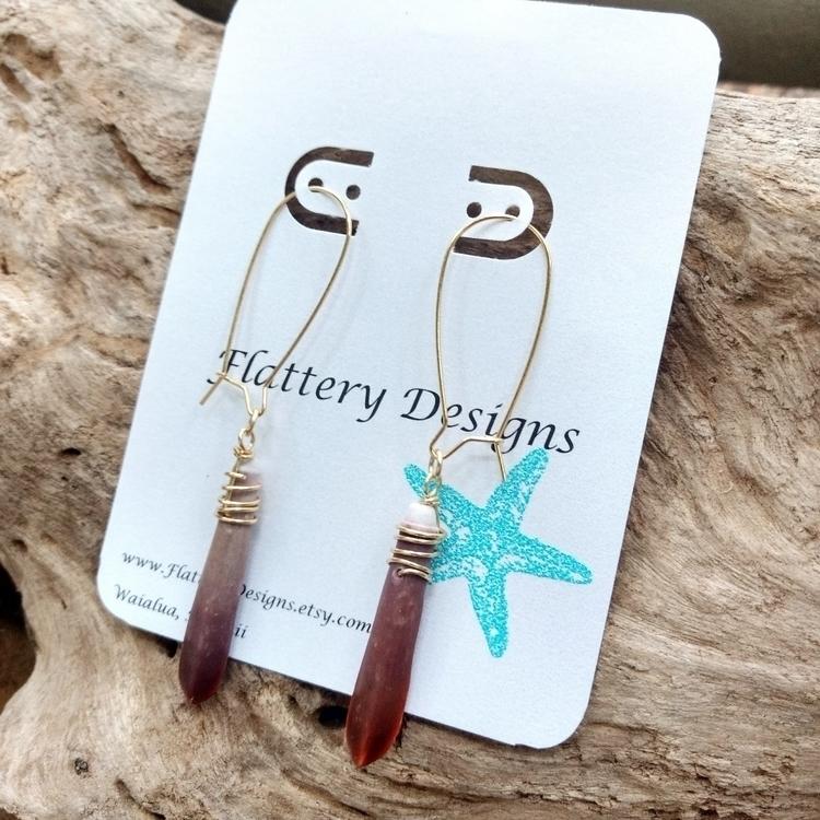 Cute Sea Urchin Spine Earrings  - flatterydesigns | ello