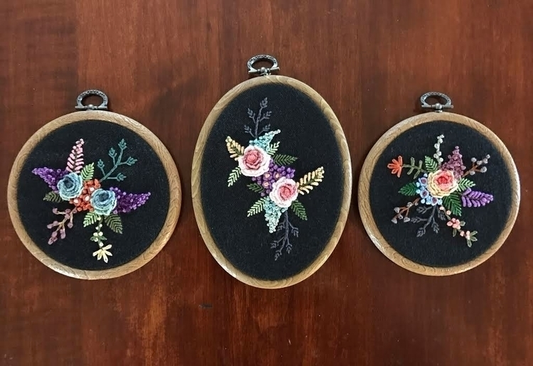 floral embroideries, Pine Apple - saliddell | ello