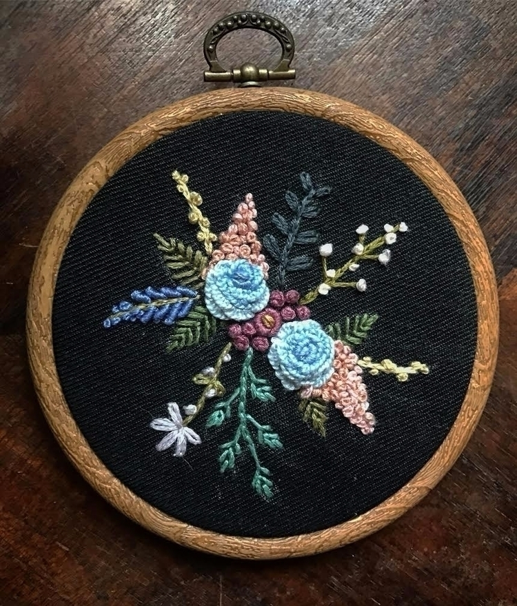 handmade, embroidery, floral - saliddell | ello