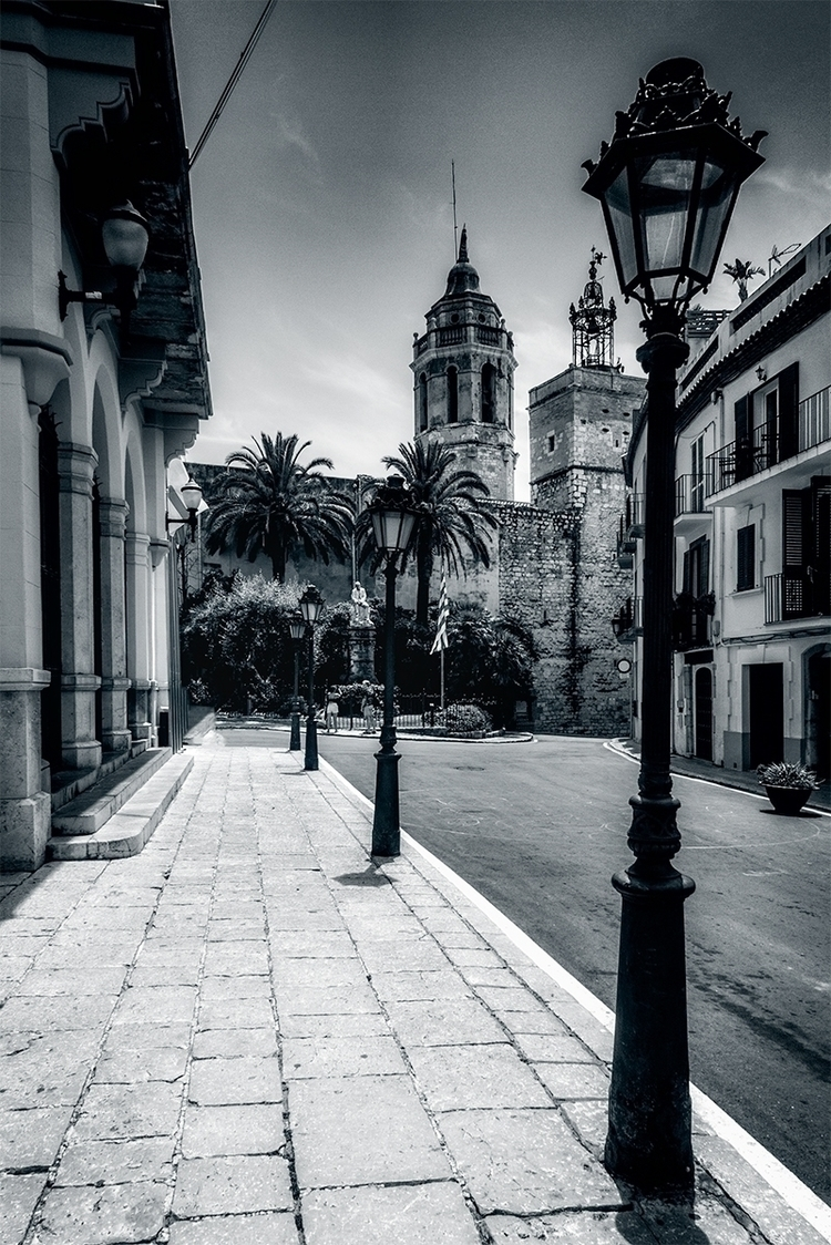 town Sitges Town Hall church Sa - stephanepictures | ello