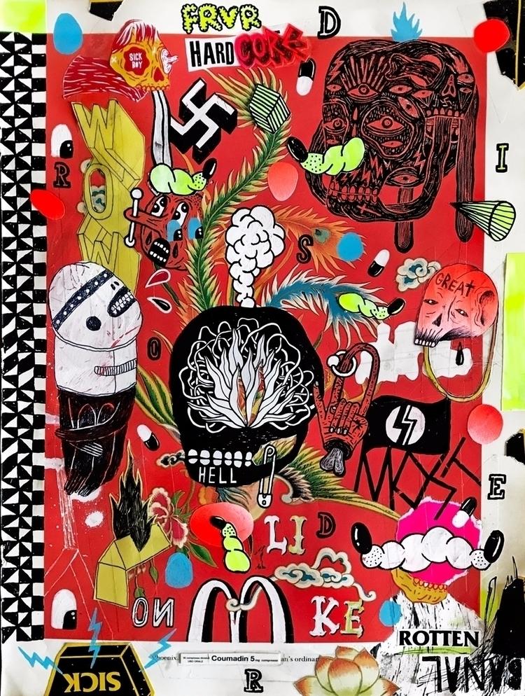 / 2017 - art, artwork, sick, outsiderart - micheleguidarini | ello