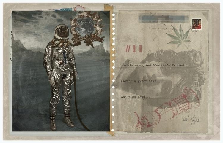 Started Ended supposed care - astronaut#distressed#postcard#cosmonaut#apollo11#apollobelvedere#lunarlandingmodule#cannabis#Amsterdam#displaced#Rubens#traveller#nomad#ephemera. - astroturf   ello