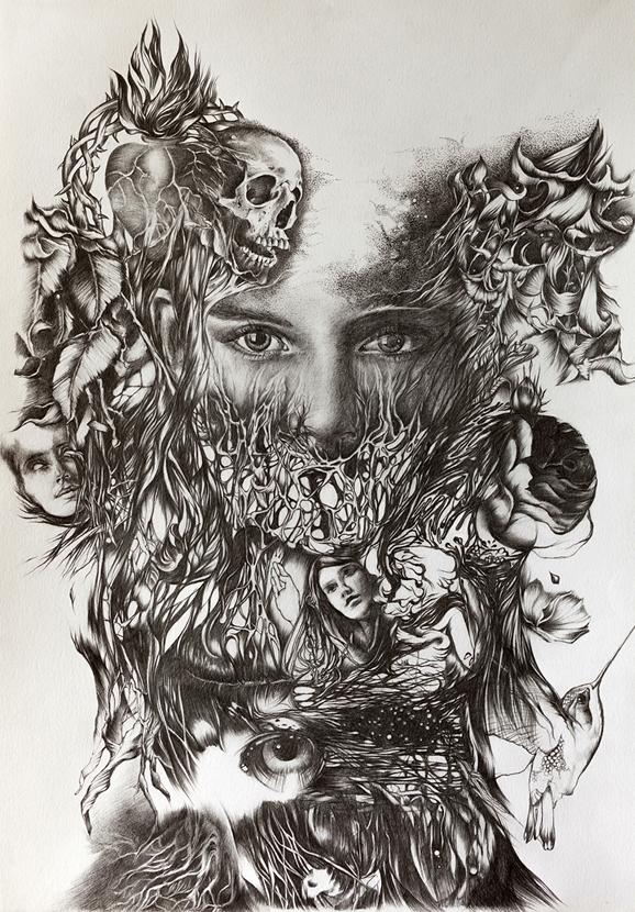'Hype', graphite paper, 2017 - wito | ello