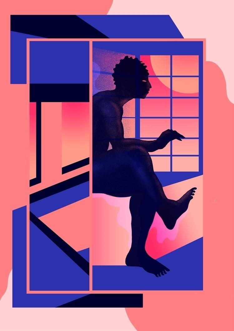 Nuit Blanche - illustration, digitalart - julien_brogard | ello