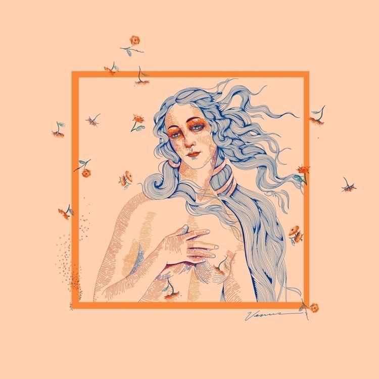 "Birth Venus"" Illustration - fmonroyr | ello"