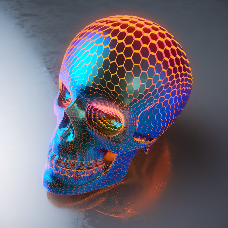 Powerskull - cinema4d, c4d, render - ionsounds | ello