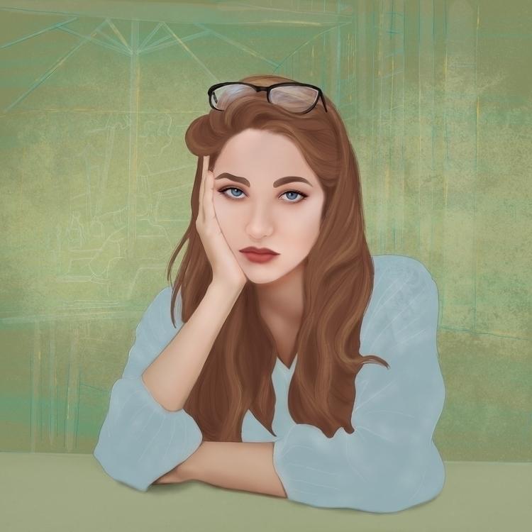 Ennui - illustration, digital, beauty - nanwray | ello