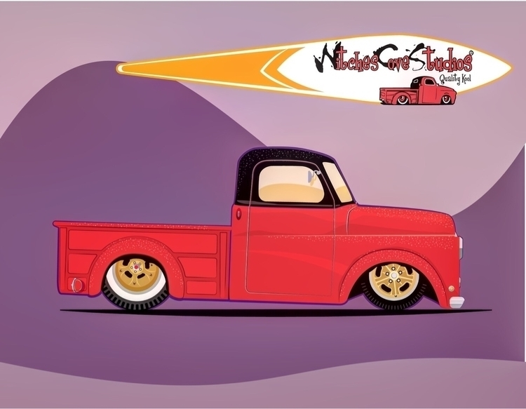 mere wisp hot rodder, car 1948  - witchescovestudios | ello