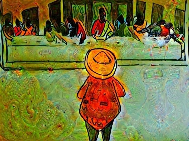 Juan Crow LS art Tammy Tinch - lastsupper - silverf0x   ello