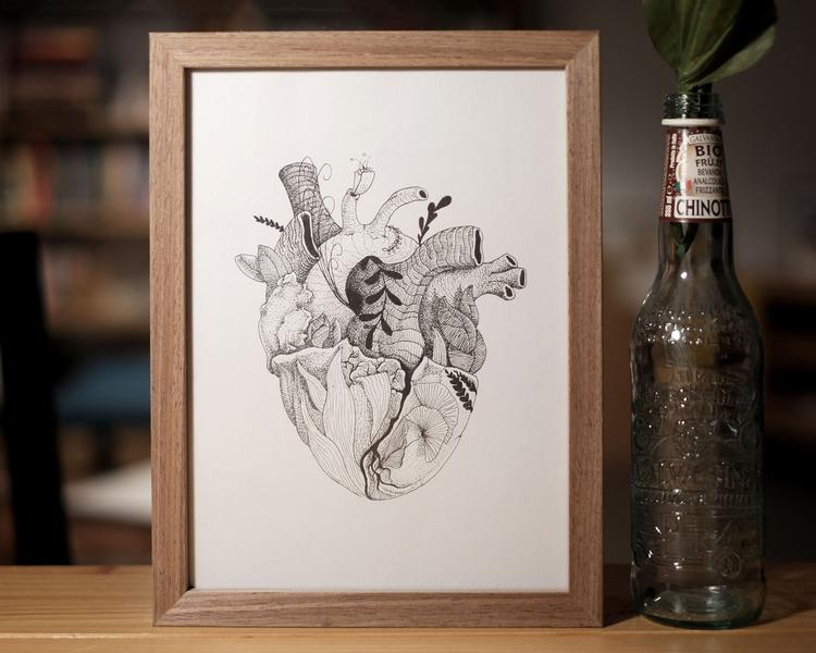 EARTH HEART - Printed black whi - massimorinaldi27 | ello