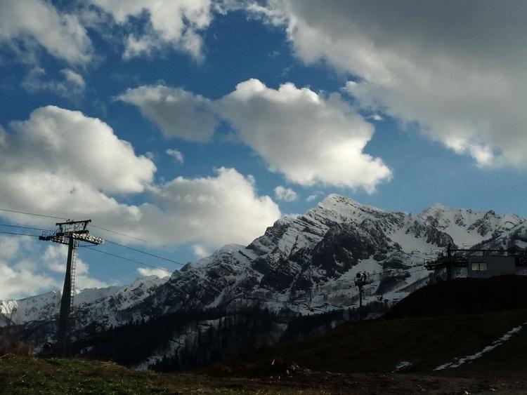 mountains, clouds, размерность - swamikalki | ello