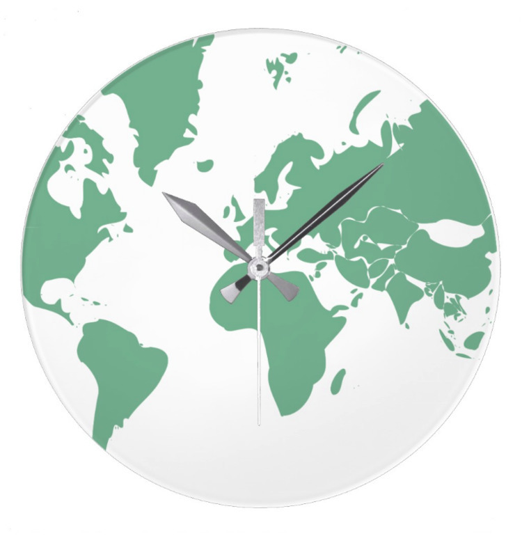 / (Large) Wall - Earth, Clock - petro5va5iadi5 | ello
