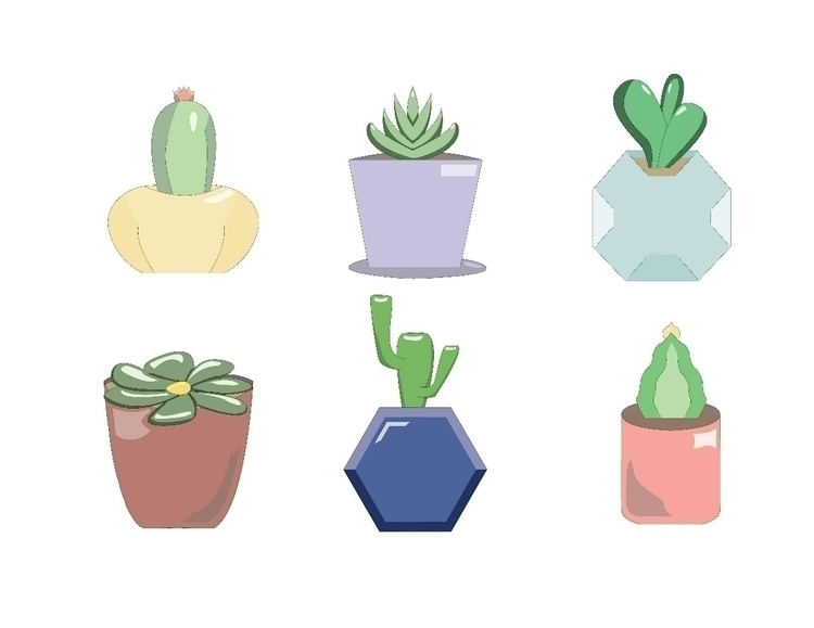 Cactus Collection  - vector, vectorart - digitalillustration | ello
