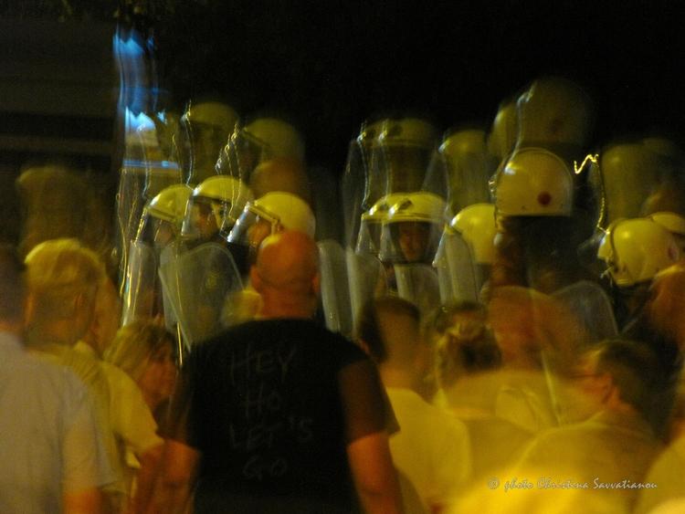 protest austerity - Athens, Syn - paraxeno | ello