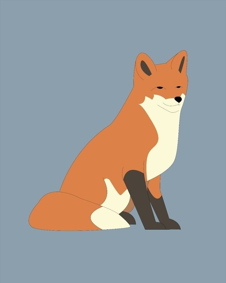 Sly fox  - vector, vectorart, vectordesign - digitalillustration | ello