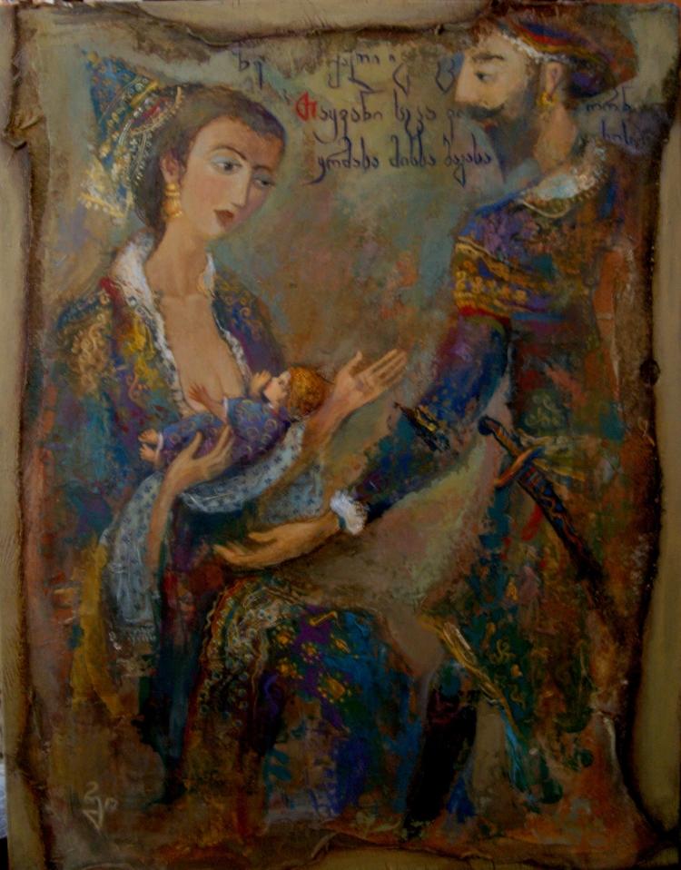 Bible story. Wood board, mixed  - giaruart61 | ello