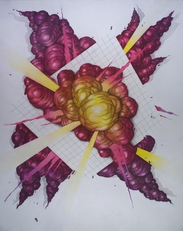 Watercolour Graphite Ink Cotton - fudge_works | ello