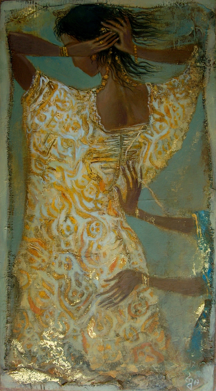Dress. Acrylic Plywood, 38cmX18 - giaruart61 | ello