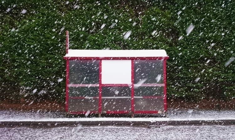 fisheries bus stop busstop - snow - jadescott | ello