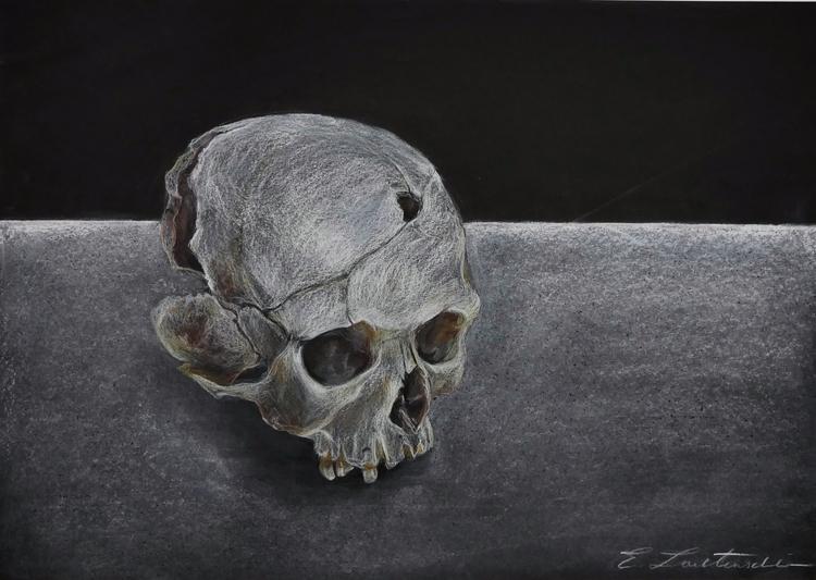art, artwork, blackandwhite, skull - elisa_lautenschlaeger | ello
