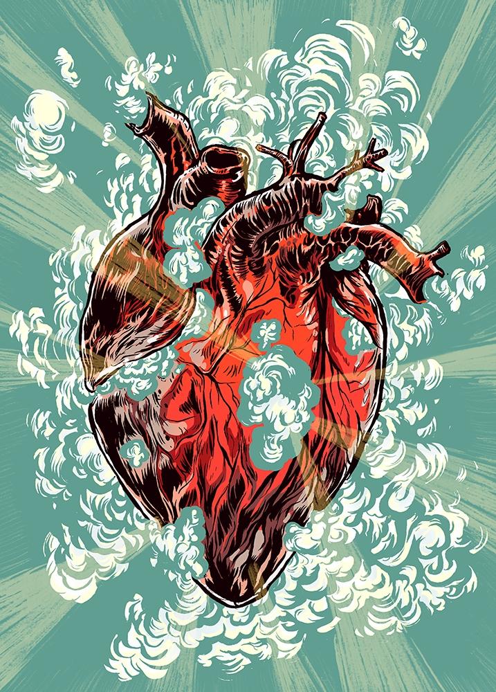 Heart explosion. change heart c - nicolaenegura | ello