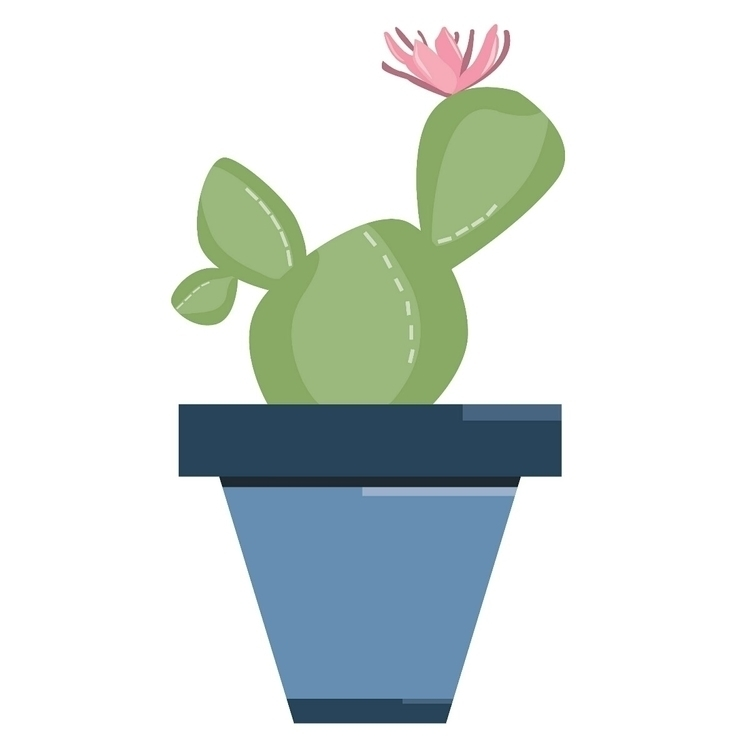 cactus flower - vector, vectorart - digitalillustration | ello