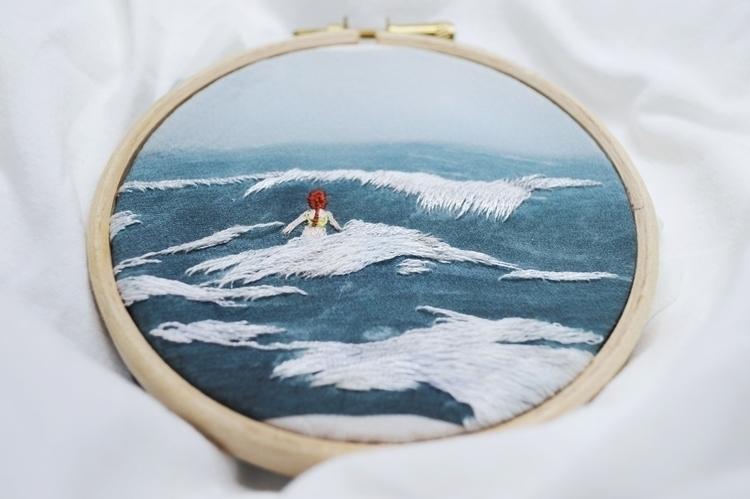 waves redhead - embroidery - fullmetalneedle | ello
