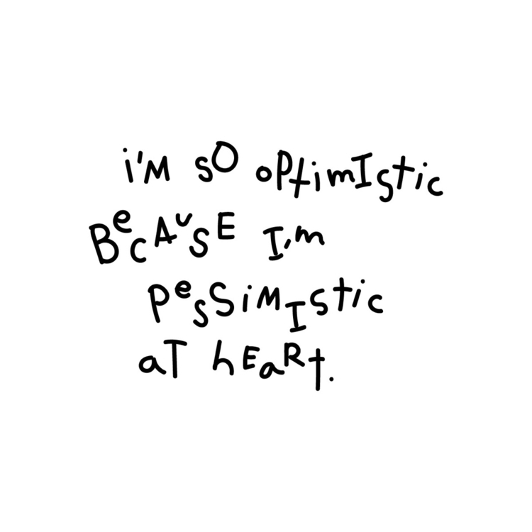 typography, quote, optimism, heart - jewelyn | ello