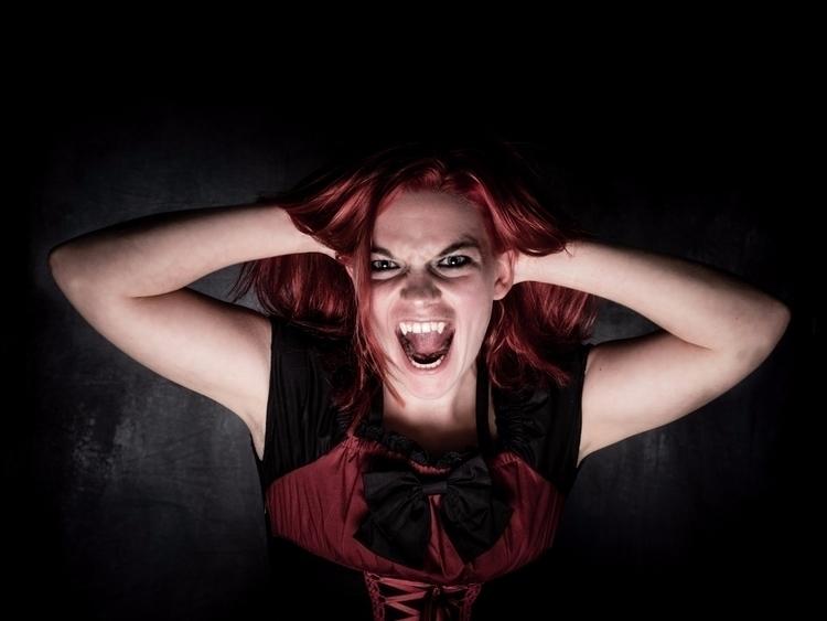 fangs, redhead, vampire, loli - akinokitsune | ello