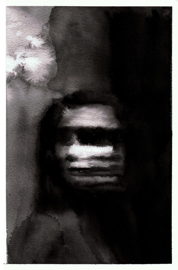 ghosts, watercolor, portrait - pretopasin | ello