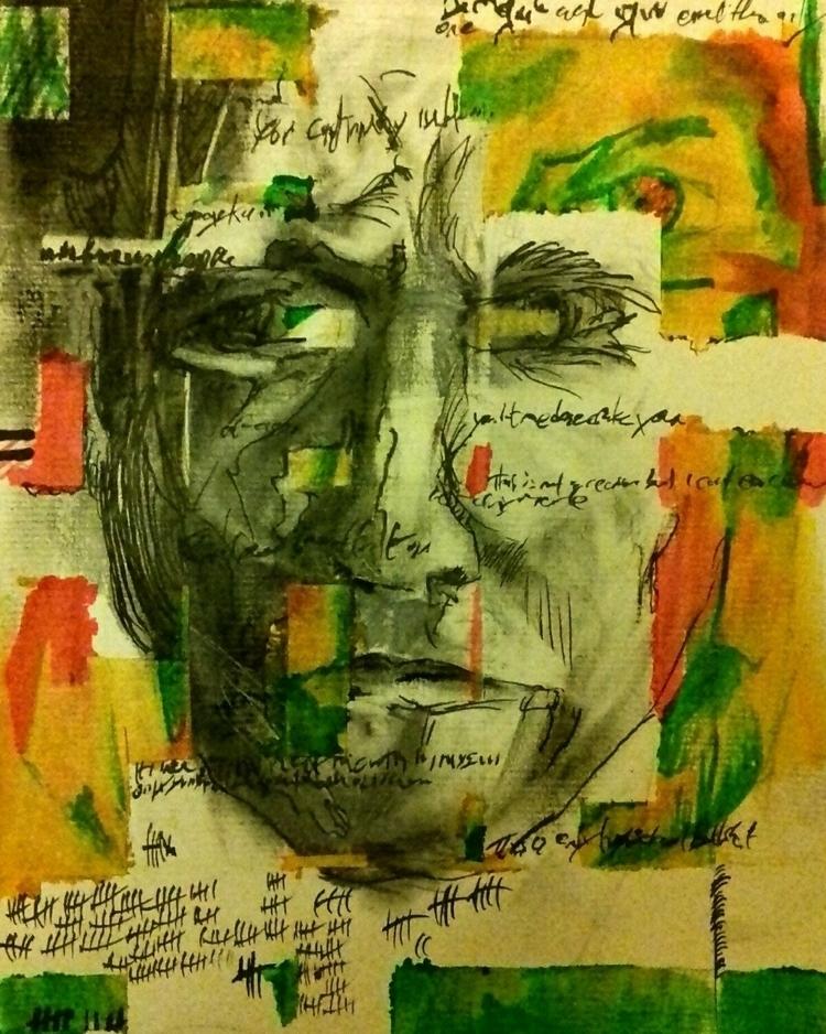 untitled portrait. ink paper - cathalpaint - cathal_lindsay_art | ello
