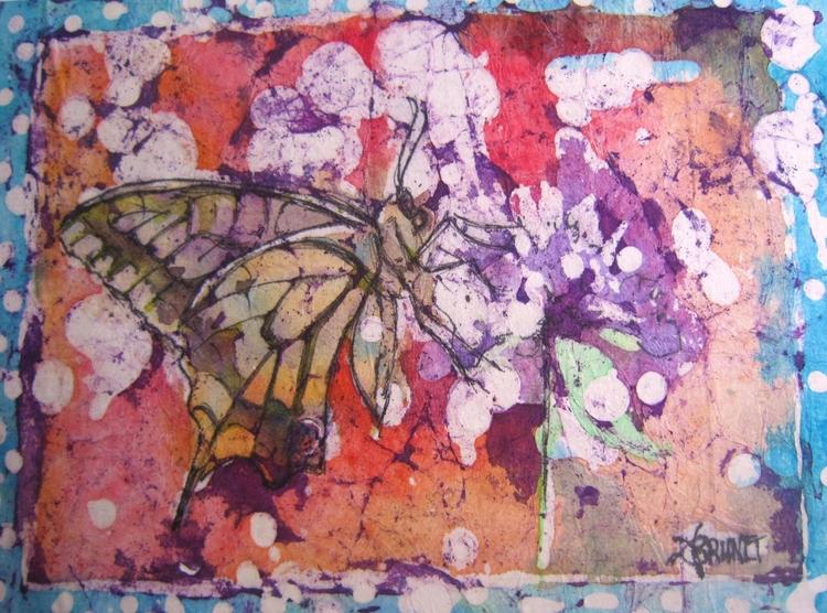 Mariposa, 15x30 cm, 2017, water - emmaquarellewatercolor | ello