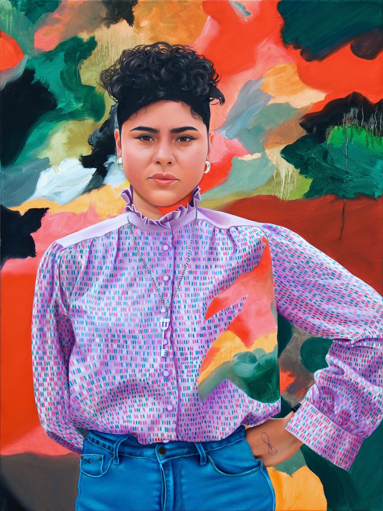 Jess Red Green Oil canvas 2017  - carlosbob | ello