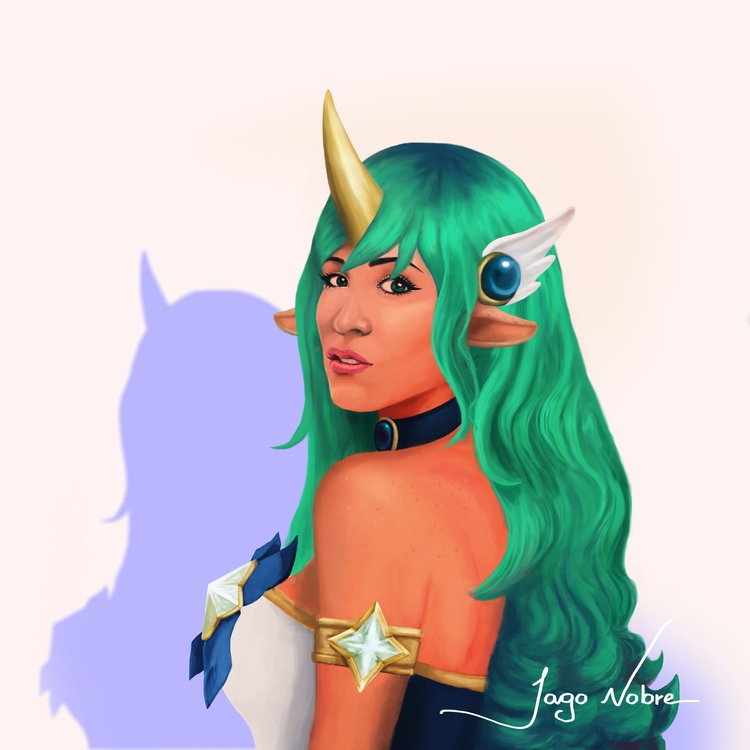 Digital painting inspired gamer - iagonobre | ello