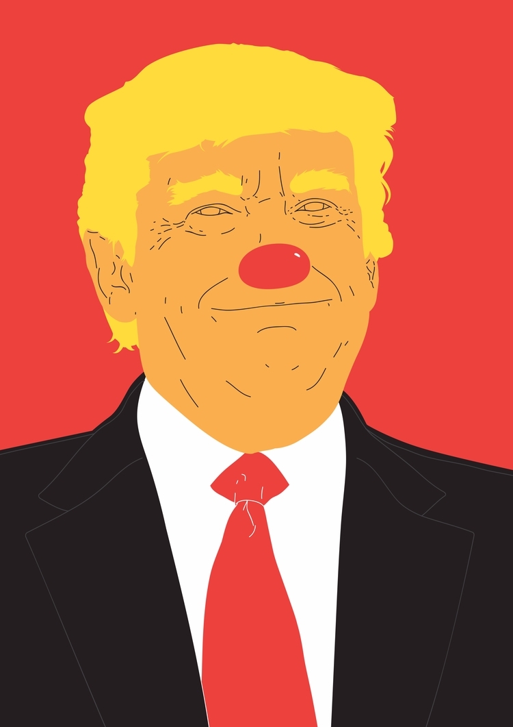 DONNIE. Satirical portrait Amer - federicogastaldi | ello