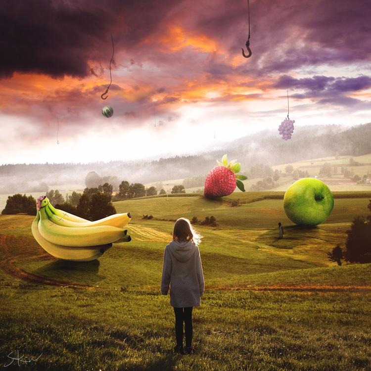 Big Fruit materials photo manip - stevenkin | ello