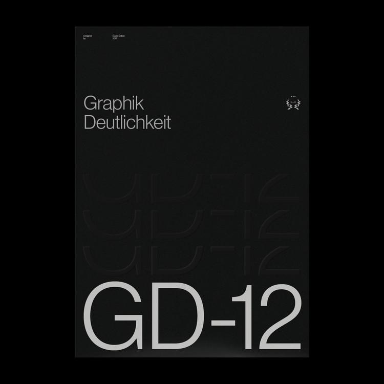 Graphik Deutlichkeit GD-12 - duanedalton | ello