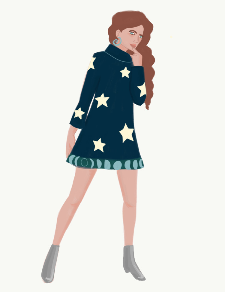 night, fashion, fashionillustration - cariguevara | ello