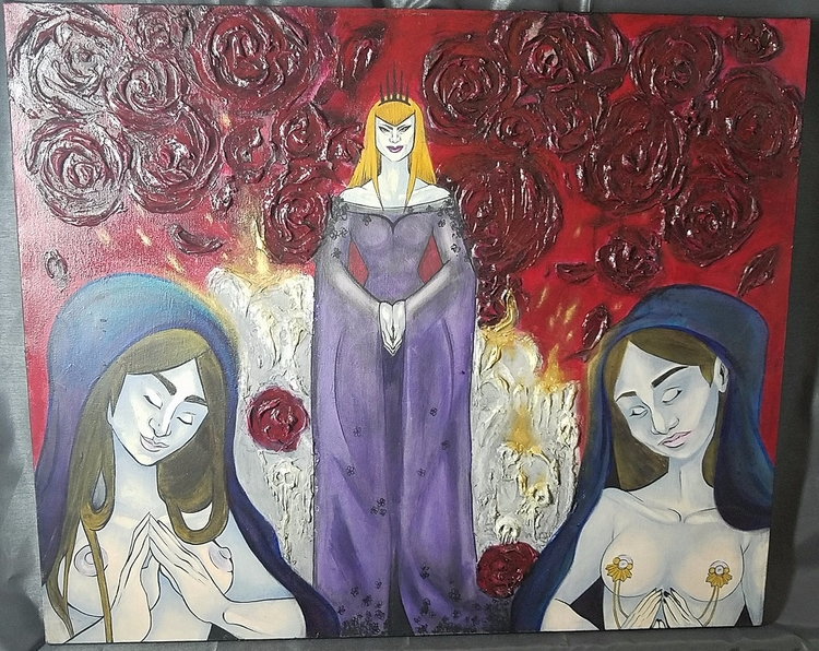 painting, acrylic, impasto, structure - ehnason | ello