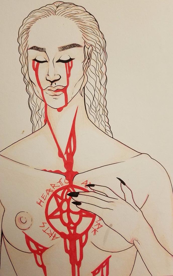 hearts, scarification, selfharm - ehnason | ello