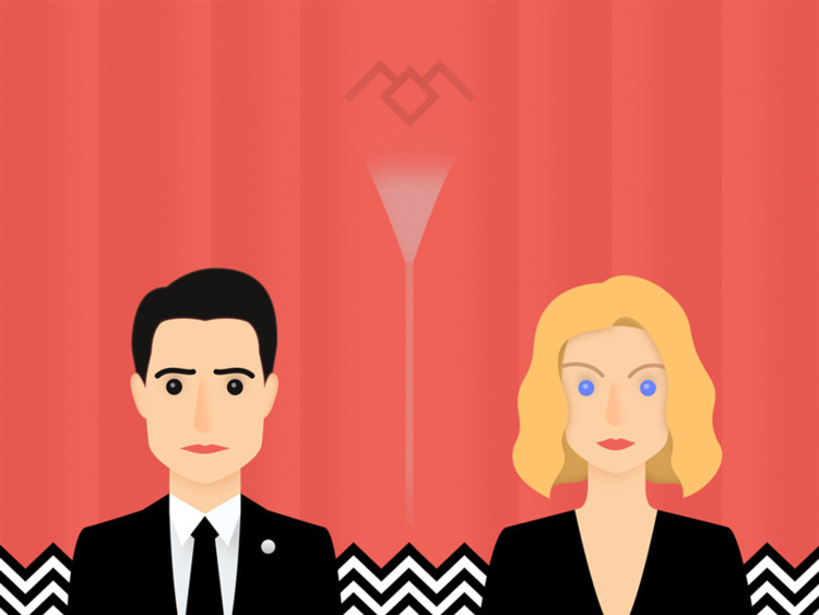 good Owl cave - twinpeaks, illustration - ladeer | ello