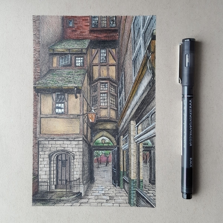 drawing St. Gatehouse London. d - brentbrereton | ello