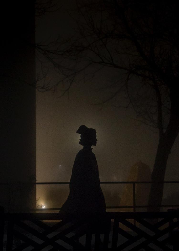fog, night, shadow, silhouette - kreskinsfolly | ello