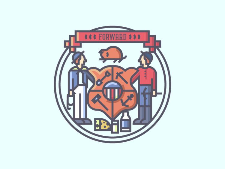 Wisconsin Crest (270/365 - darumacreative | ello