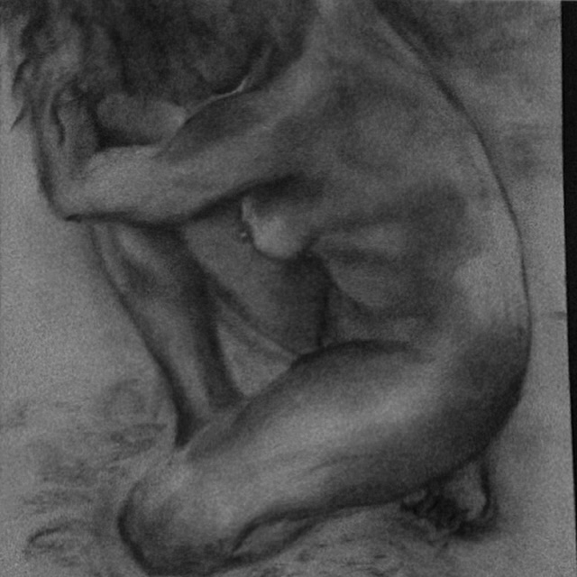 Knee 18 24 Charcoal Sketch - bettyjuodis | ello