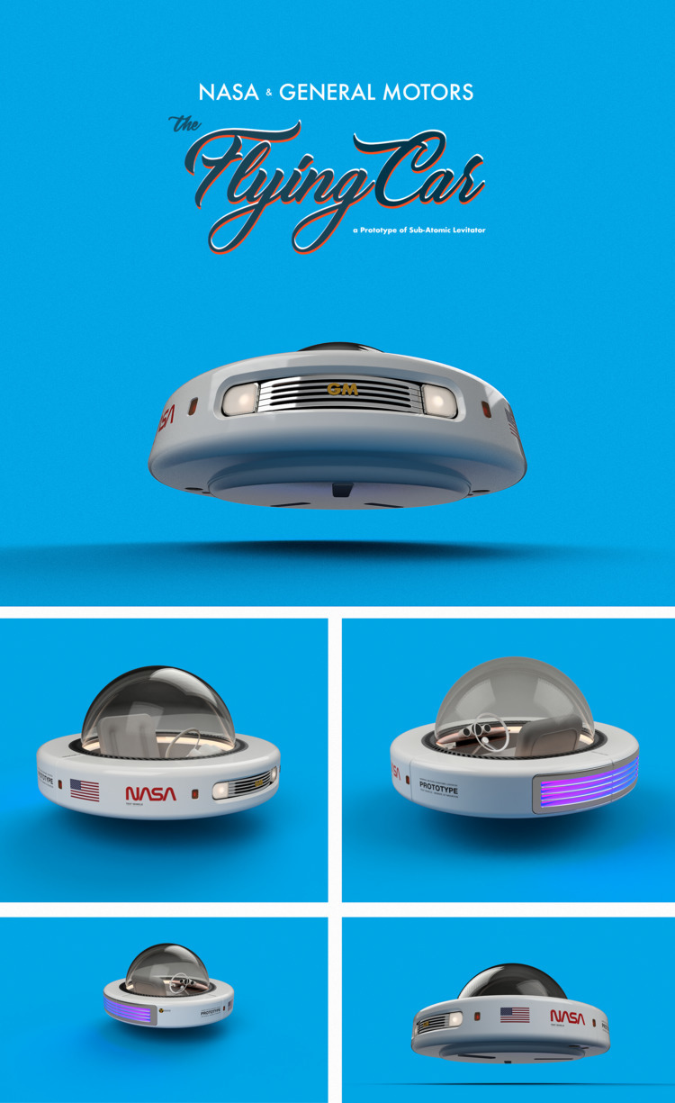 Flying Car - FlyingCar, Retro, Futuristic - emrahserdaroglu | ello