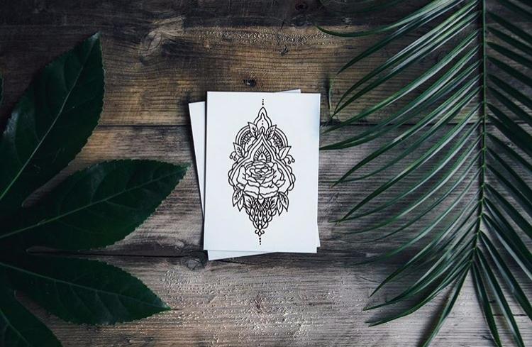 A5 Rosaceae Print Keyley Graham - keyleygrahamdesigns | ello